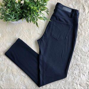 Calvin Klein navy blue ponte knit button up pants